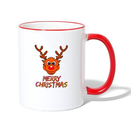Rudolph - Tasse zweifarbig