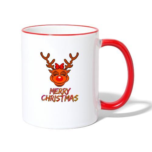Rudolph weiblich - Tasse zweifarbig
