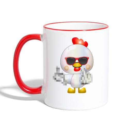 Poule F*** - Mug contrasté
