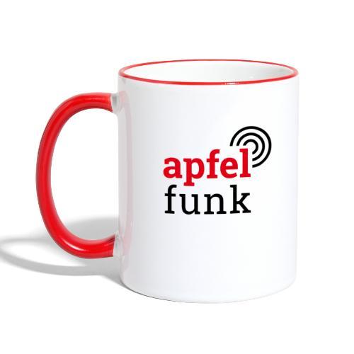 Apfelfunk Edition - Tasse zweifarbig