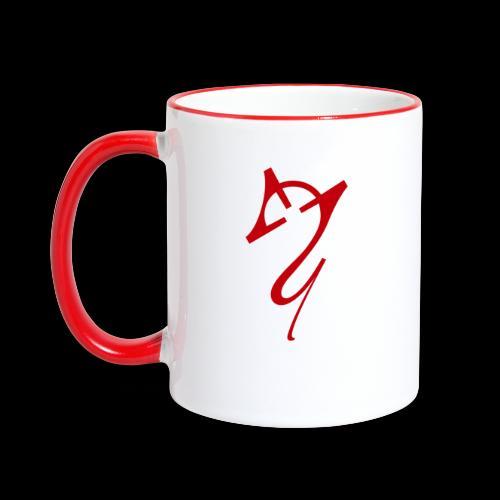 Overscoped logo red - Contrasting Mug