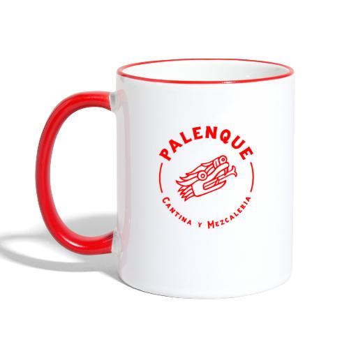 Tête de serpent rouge de Palenque - Mug contrasté