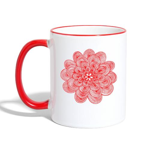 hypnotic flower red - Tazze bicolor
