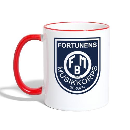 Fortunen logo - Tofarget kopp