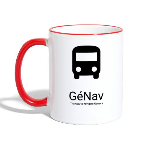 GéNav Logo Noir - Mug contrasté