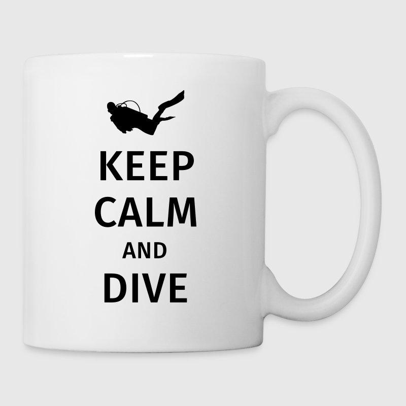 keep calm and dive - Taza