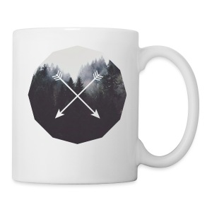Misty Forest Blended With Crossed Arrows - Tazza