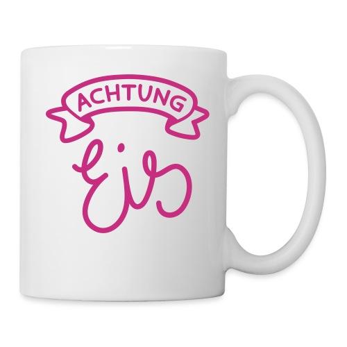 Schriftzug: Achtung – Eis! - Tasse