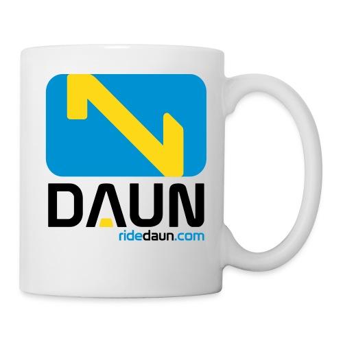 daun logo hochkant weblink 3farbig - Tasse