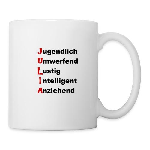 Frauenname mit Charaktereigenschaften: Julia - Tasse