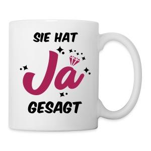 Sie hat JA gesagt - JGA T-SHirt - JGA Shirt -party - Tasse