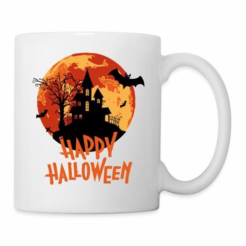 Bloodmoon Haunted House Halloween Design - Tasse