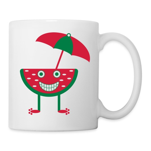 Melone mit Sonnenschirm - Tasse