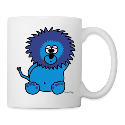 Litchee Le Lion Bleu - Mug blanc