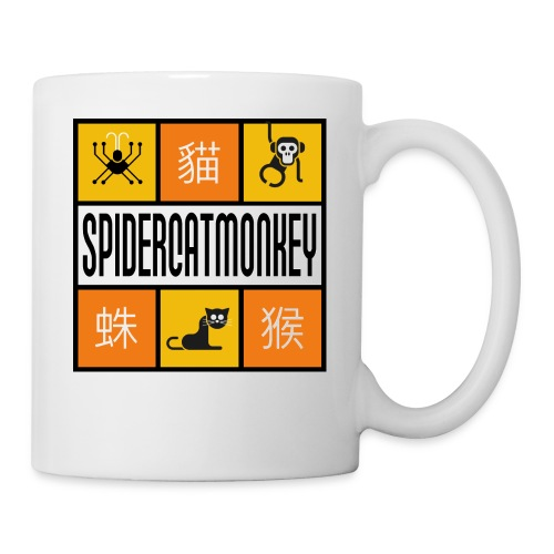 Band-Logo SPIDERCATMONKEY, orange - Tasse