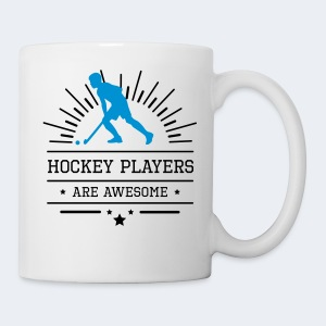 Hockeyplayers are Awesome , blue - Tasse