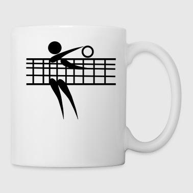 volleyball mit Netz und Ball - Tasse