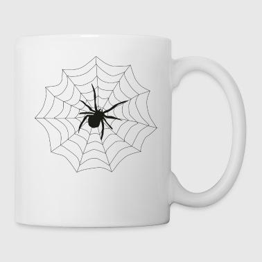 Spinne Netz - Tasse