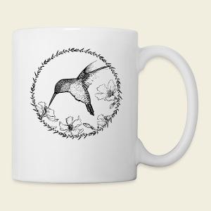 Kolibri Blüten Kreis - Tasse