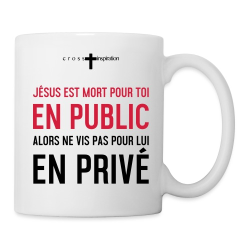 Public ou privé - Mug blanc
