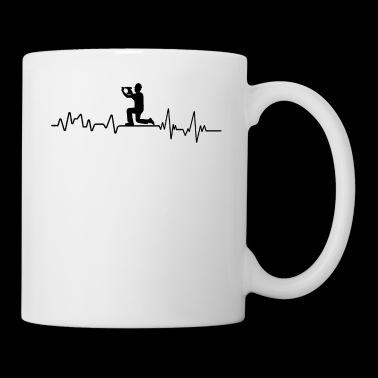 Heartbeat bouwvakkers t-shirt ambachtslieden - Mok