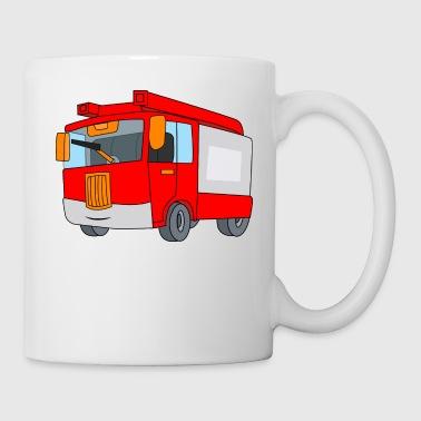 Camión de bomberos de bombero incendiario Borrar - Taza