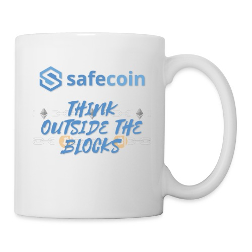 SafeCoin; think outside the blocks (blue) - Mug