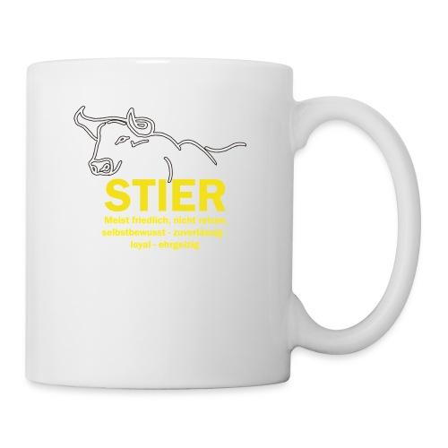 Stier Strich Text Gelb - Tasse
