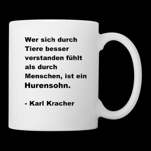 Josef Jugend Karl Kracher Zitat Tiere - Tasse