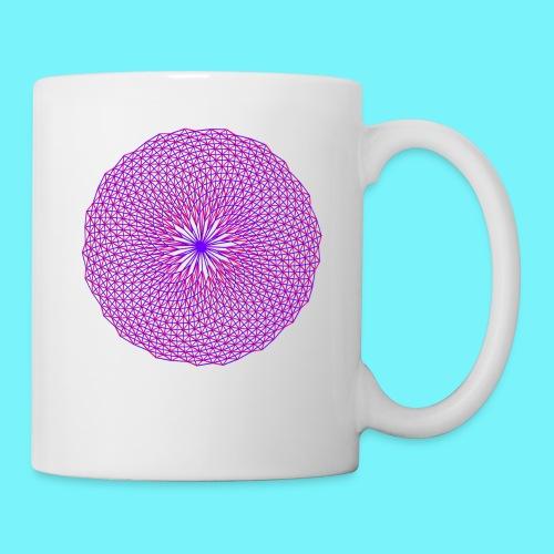 Fibonacci image with 4 fibonacci spirals - Mug