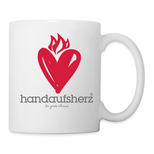 Hand aufs Herz - Tasse