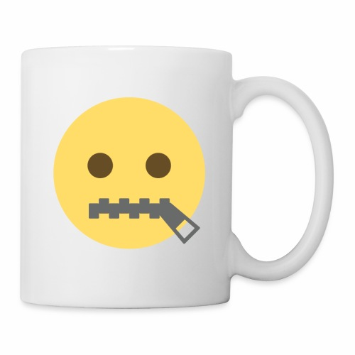 emoji bocca chiusa - Tazza