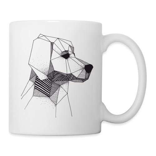 Golden Retriever Geometrisch Zwart - Mug blanc