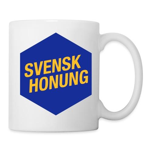 Svensk honung Hexagon Blå/Gul - Mugg