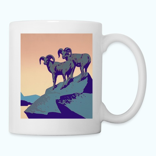 Vintage Capricorn Travel Poster - Mug