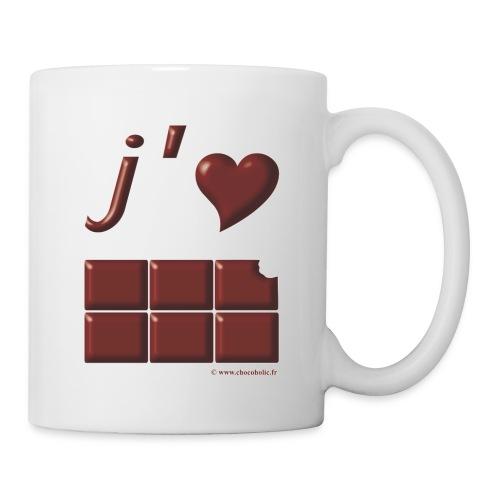 J aime le chocolat pour Mug - Mug blanc