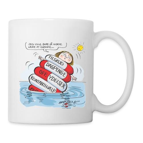 Kan ikke lære at svømme med så meget hjælp jpg - Kop/krus