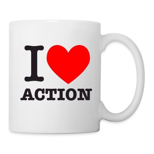 ich liebe action - Tasse