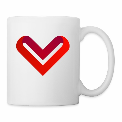 Coeur de V - Mug blanc