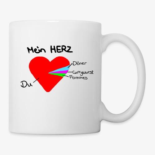 Herz Tortendiagramm 3 - Tasse