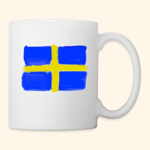Swedish flag in Watercolours - Mugg