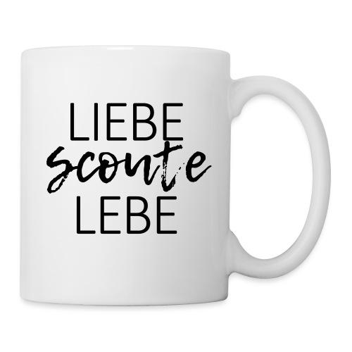 Liebe Scoute Lebe Lettering - Farbe frei wählbar - Tasse