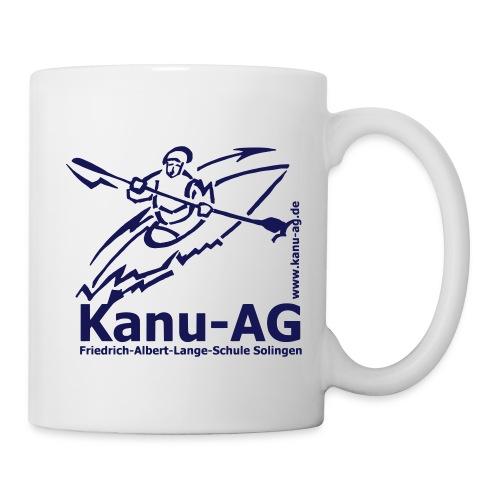 Kanu-AG-Logo mit Text und www - Tasse