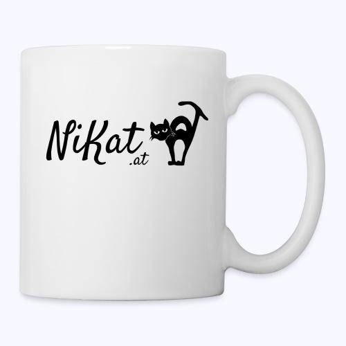 Nikat logo schwarz - Tasse