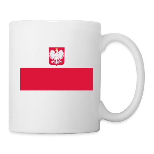 Flag of Poland with coat of arms - Kubek