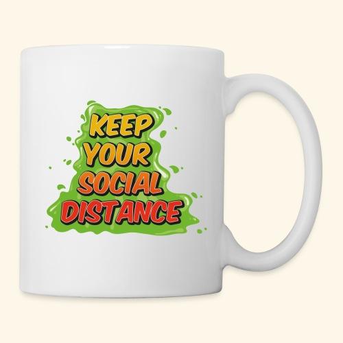 Keep your social distance - Mug blanc