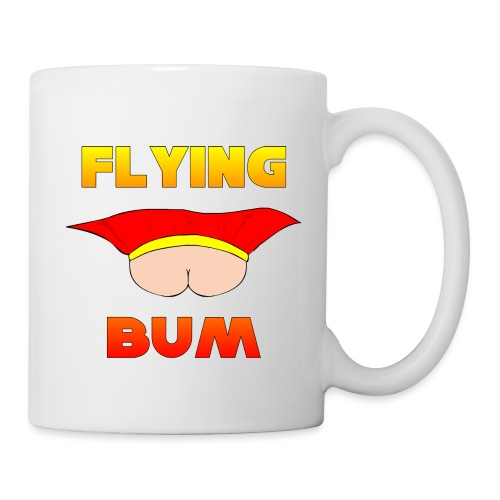 Flying Bum (face on) with text - Mug