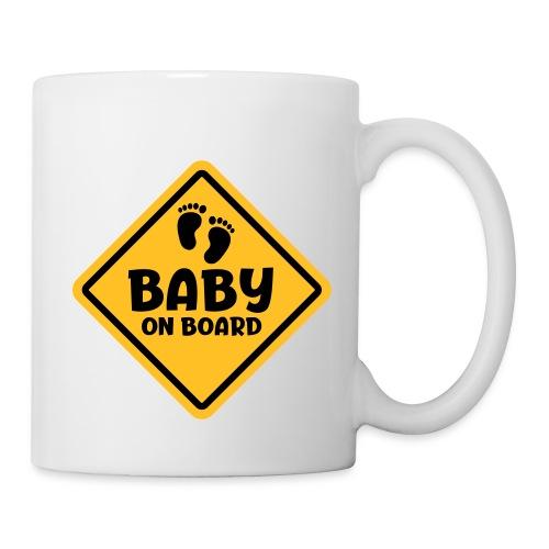 Slogan baby on board - baby aan boord Zwanger zijn - Mok
