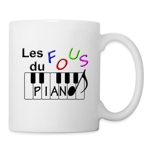 Logo Fous du piano 3 - Mug blanc