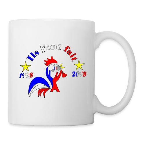 champion du monde 2018 France coq 2 étoiles - Mug blanc